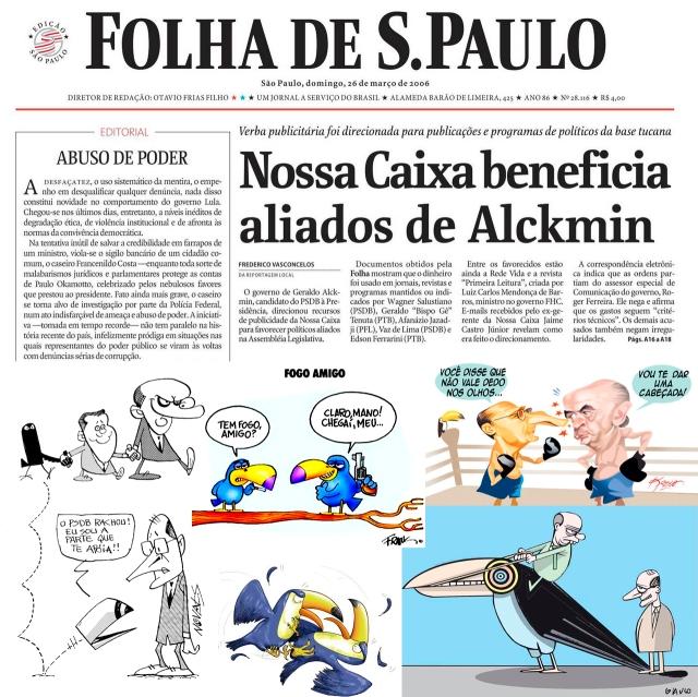briga alckmin serra charges e folha lixão