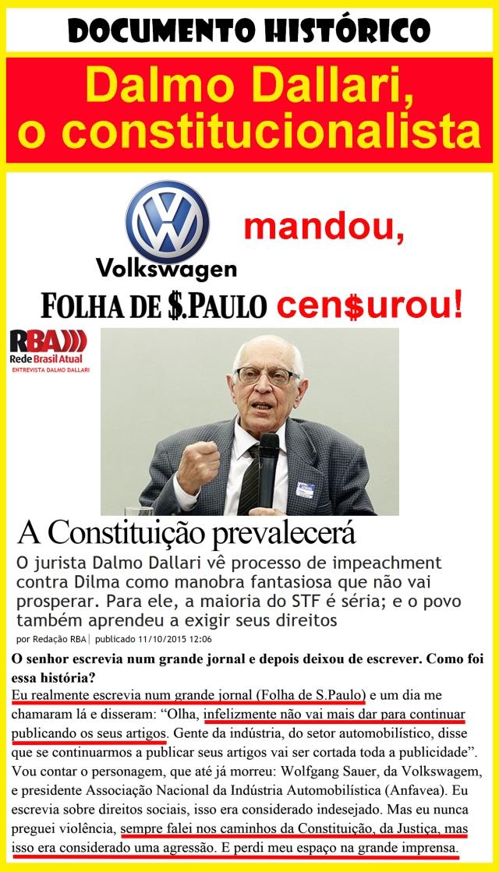 dallari cen$urado pela folha sp